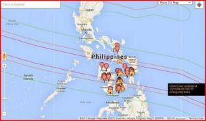 Google's crowdsourced crisis response map. Image via Mashable.