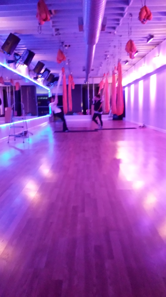 The AntiGravity Flying Fitness studio I hung out in.