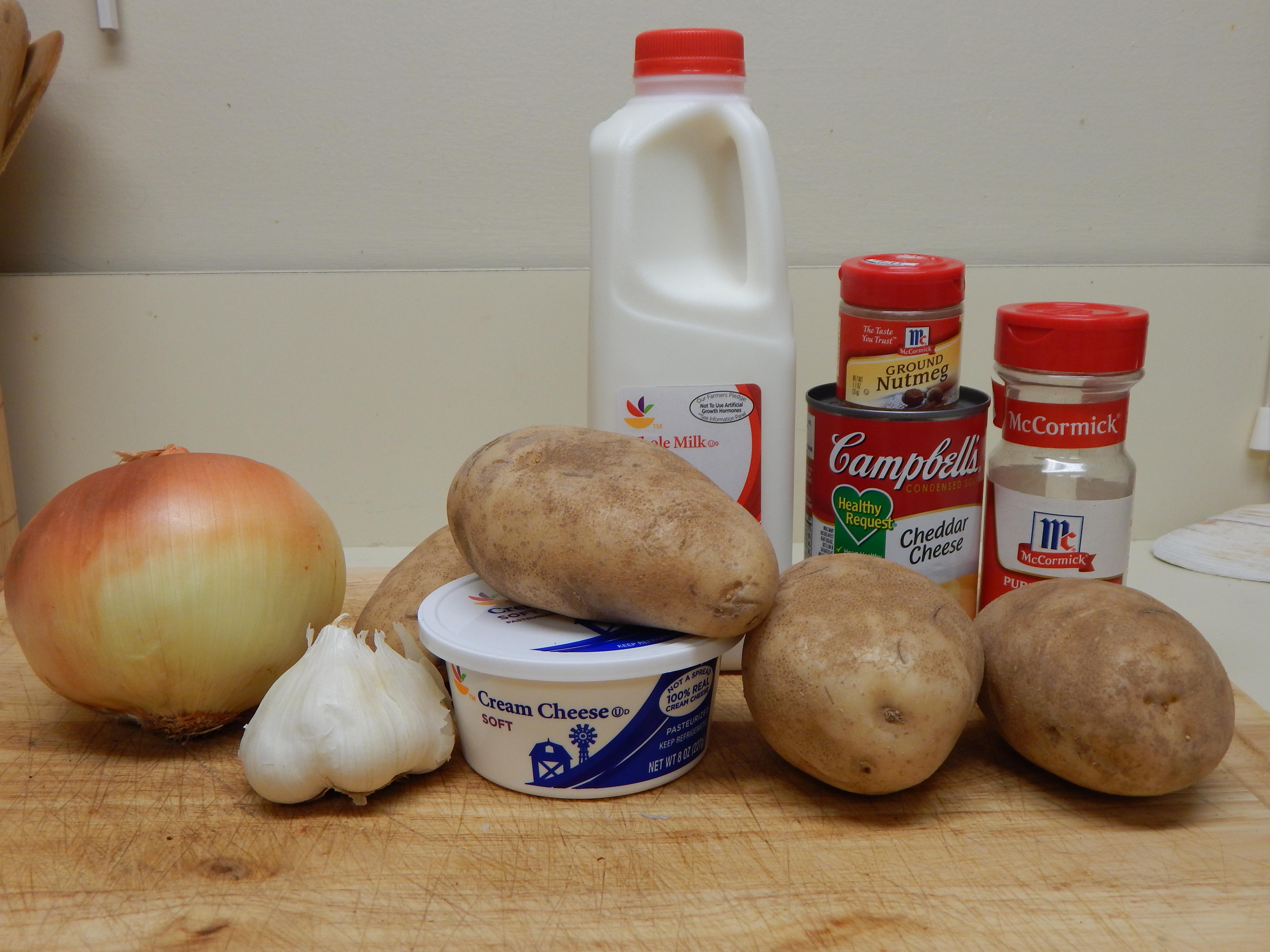 Two Potato Gratin Potatoes au Gratin Ingredients