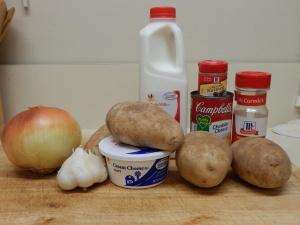 Potatoes au Gratin Ingredients