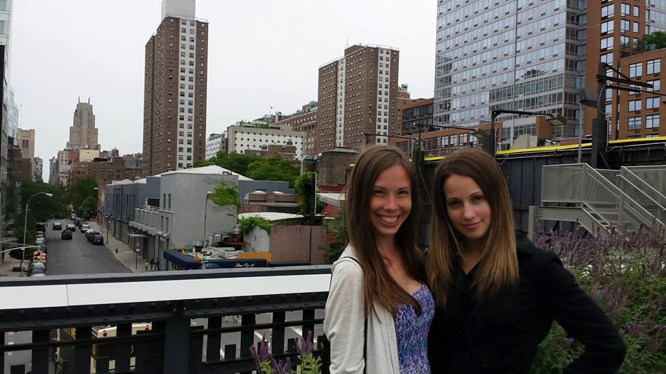 A friend and I up on the High Line last week!